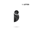 Creative I-letter icon abstract logo vector image