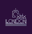 creative london city logo in line style abstract vector image