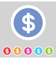 Flat game graphics icon money vector image
