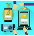 Internet online banking vector image