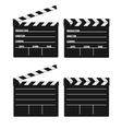 movie clipper white vector image