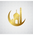 Ramadan greetings card background vector image