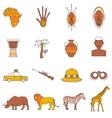 Safari Icons Set vector image