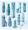 Sketch Isometric Buildings Colored vector image