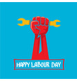 1 may - labour day labour day poster vector image