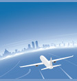 colombo skyline flight destination vector image