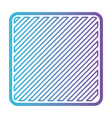 square shape emblem in color gradient silhouette vector image