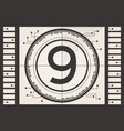 Old film movie countdown frame vector image