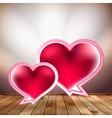 Heart speech bubble design template EPS 10 vector image vector image