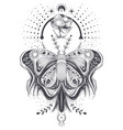 a sketch tattoo art vector image