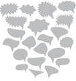 Blank Empty gray Speech bubbles set on white vector image
