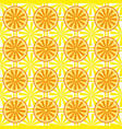 lemon orange fruit pattern yellow vector image