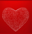 abstract mesh heart background vector image