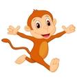 Happy monkey cartoon vector image vector image