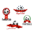 Four football and soccer emblems vector image vector image