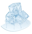 ice cube pile vector image vector image