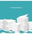 Flat background Paperwork vector image