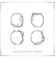 Wrought Iron Frame Three vector image