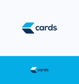 Cards C logo vector image