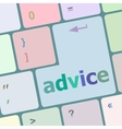 Hot keys for advice and support vector image
