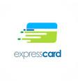 card express logo vector image