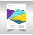 colorful abstract brochure report flyer magazine vector image