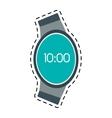digital smart watch time screen line vector image