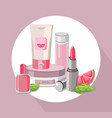 eco cosmetics set package hydration cream vector image