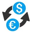 Euro Dollar Exchange Flat Icon vector image