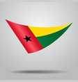 guinea-bissau flag background vector image
