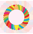 round colorful background vector image