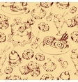 Sweets sketch seamless pattern vector image