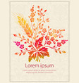 invitation card with watercolor vector image vector image
