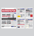 newspaper design template vector image