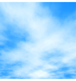 White clouds on blue vector image