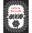 celtic brush for frame vector image
