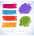 Watercolor splatters Beautiful watercolor vector image