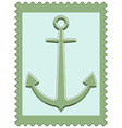 Anchor on stamp vector image