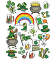 saint patricks day elements vector image vector image