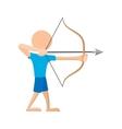 Archer cartoon icon vector image
