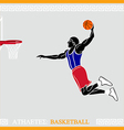 Athlete basketball player vector image