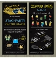 stag-party invit on the beach Holiday vacation vector image