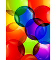 Colourful bubble close up background vector image vector image
