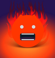 Abstract angry face vector image