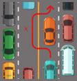 breaking overtaking road rule vector image