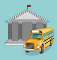 building bus school design vector image