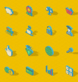 Colorful isometric flat design icon set vector image