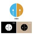 Creative alphabet A and A letter logo vector image