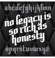 Custom Gothic Font vector image
