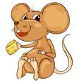 Cute mouse vector image